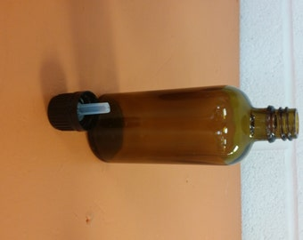 Glass Amber bottle with Dropper Cap 4 oz.