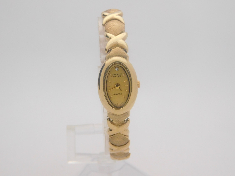 14k yellow gold geneve quartz 7 inch