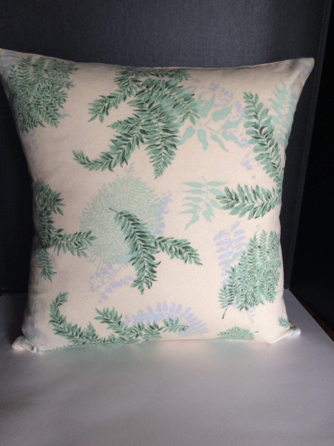Green Blue Throw Pillow Covers Set of two 16 Fern