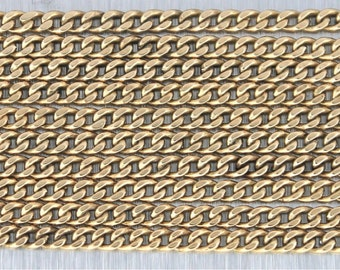 "Vintage Long 14K Yellow Gold Curb Chain Necklace 61"" 2.5mm 33.3 Grams"