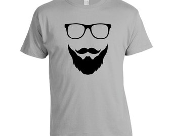 Beard and Glasses - Funny T-shirt