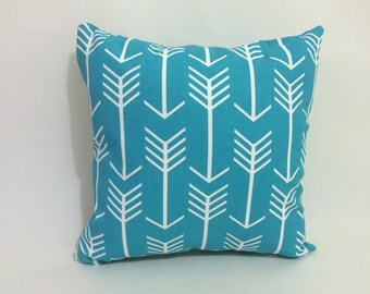 1 - 16x16 Pillow Cover with Invisible Zipper in Arrow Macon Apache Blue