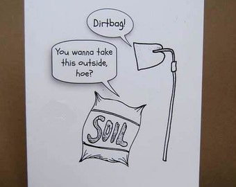 Spring has Sprung Gardening Humour greeting card, funny card for gardeners