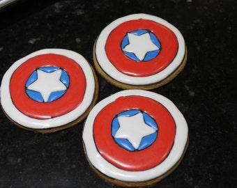 capitan america cookies