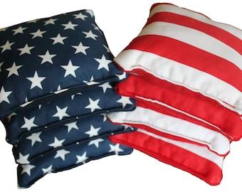 Cornhole Bags - American Flag.