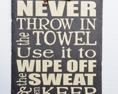 WEIGHT ROOM SIGN - Home Gym Sign - Workout Sign - Get Fit - Fitness Encouragement - Lose weight - Never give up - Hang tough - You can do it