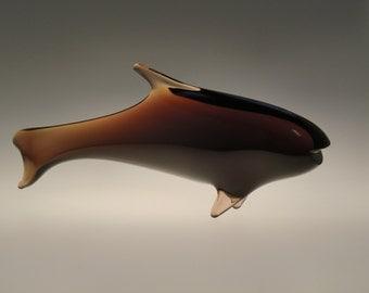 Bohemian Czech Art Glass Fish by Rozinek