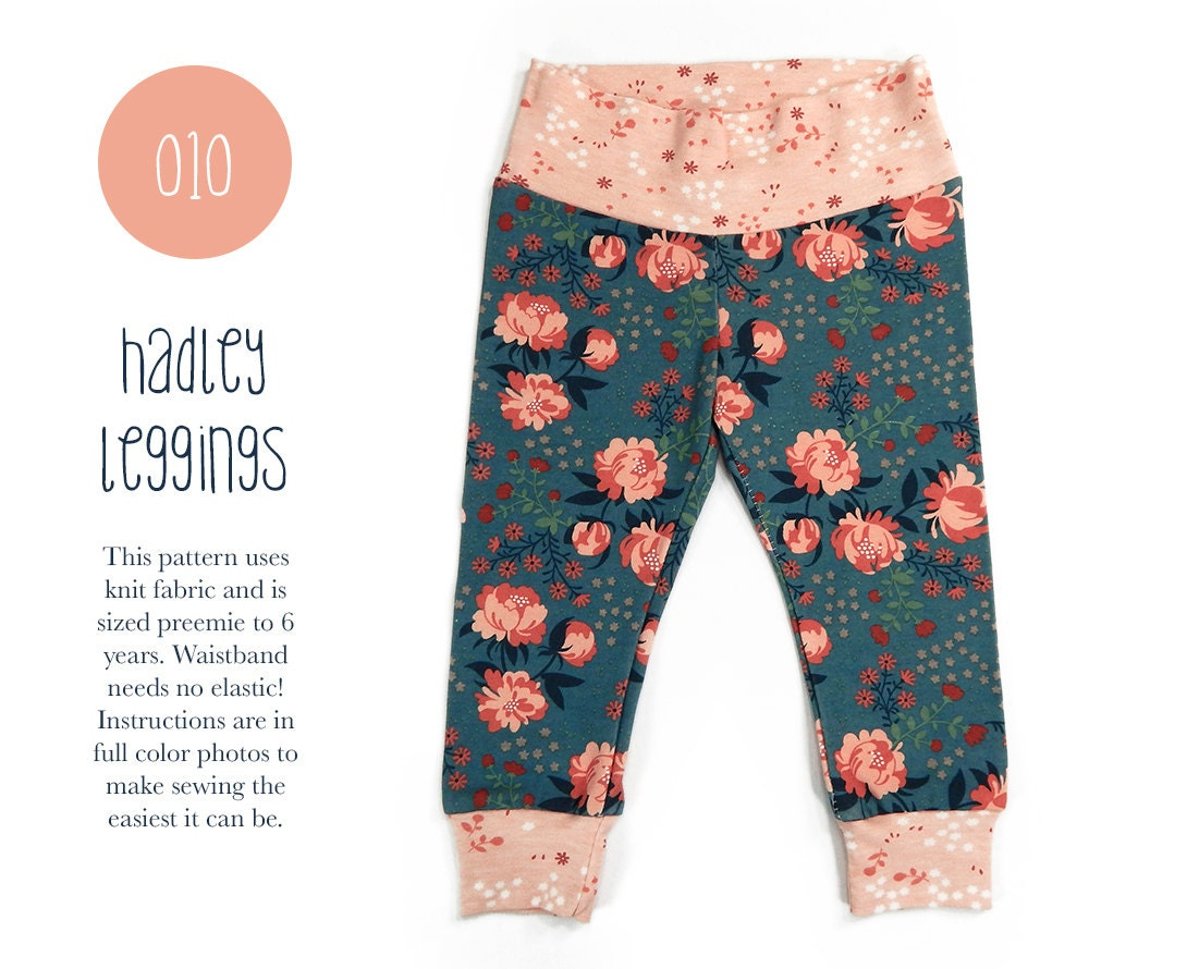 Knitting Pattern For Toddler Leggings : 010 Hadley Leggings PDF Sewing Pattern Baby or Kid Toddler Knit Pants Boy Gir...