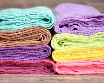 Newborn Cheesecloth Wrap Photography Prop Baby Infant Aqua Blue Brown Purple Pink Green Yellow Lavender