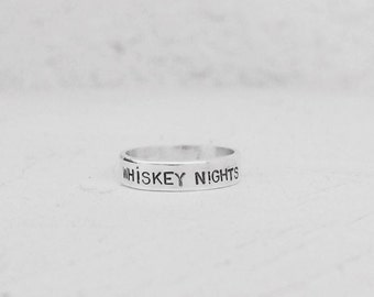 Sterling Silver Whiskey Nights Ring-Any Size.