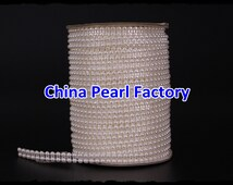 25Meter / roll White Double row bead decoration string pearl Garland for wedding favors crafts / DIY accessories
