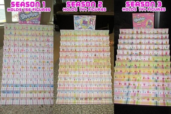 Custom shopkins display stands choose season 1 season 2 or season