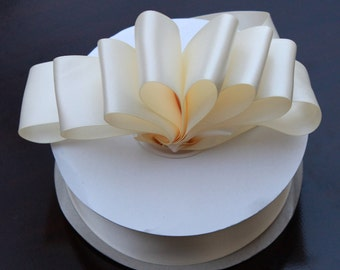 5 yards Ivory Double Faced satin Ribbon 1.5 inches - Ivory Satin Ribbon - Satin Ribbon Ivory - Ribbon Ivory Satin