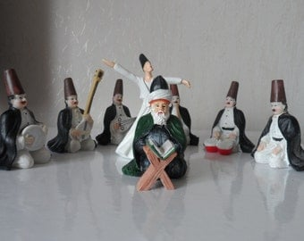 Sufi Whirling Dervish in a SEMA ceramony (set of 9)