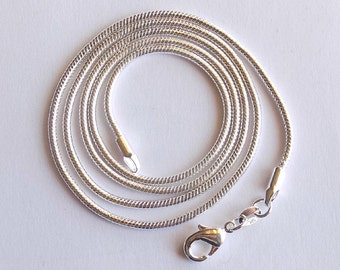 2 Snake Chain Necklaces - 18 inch