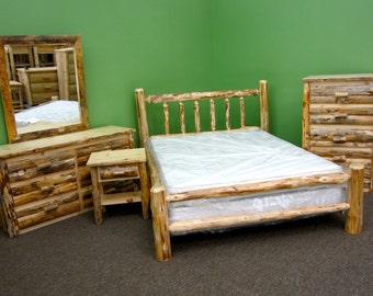 Rustic Log Bedroom Suite - 5 pc