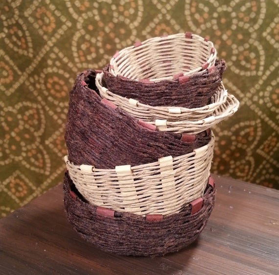 Handmade Small Baskets : Scale handmade baskets for sd bjd large or small