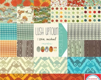Destash Charm Pack Lush Uptown  by Erin Michael of Moda destash quilter cotton Out of Print OOP Hard to find