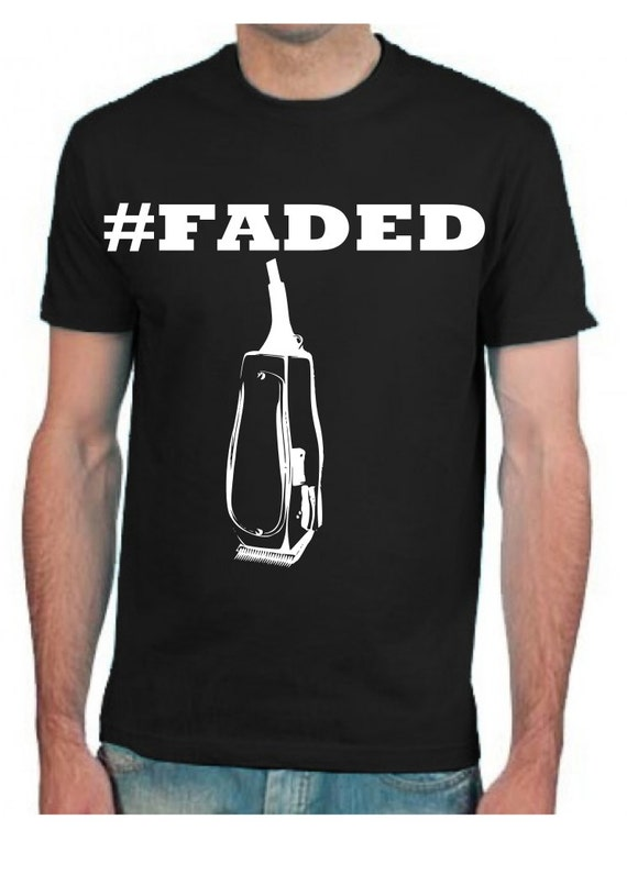 faded beard barbers t shirt clothes by