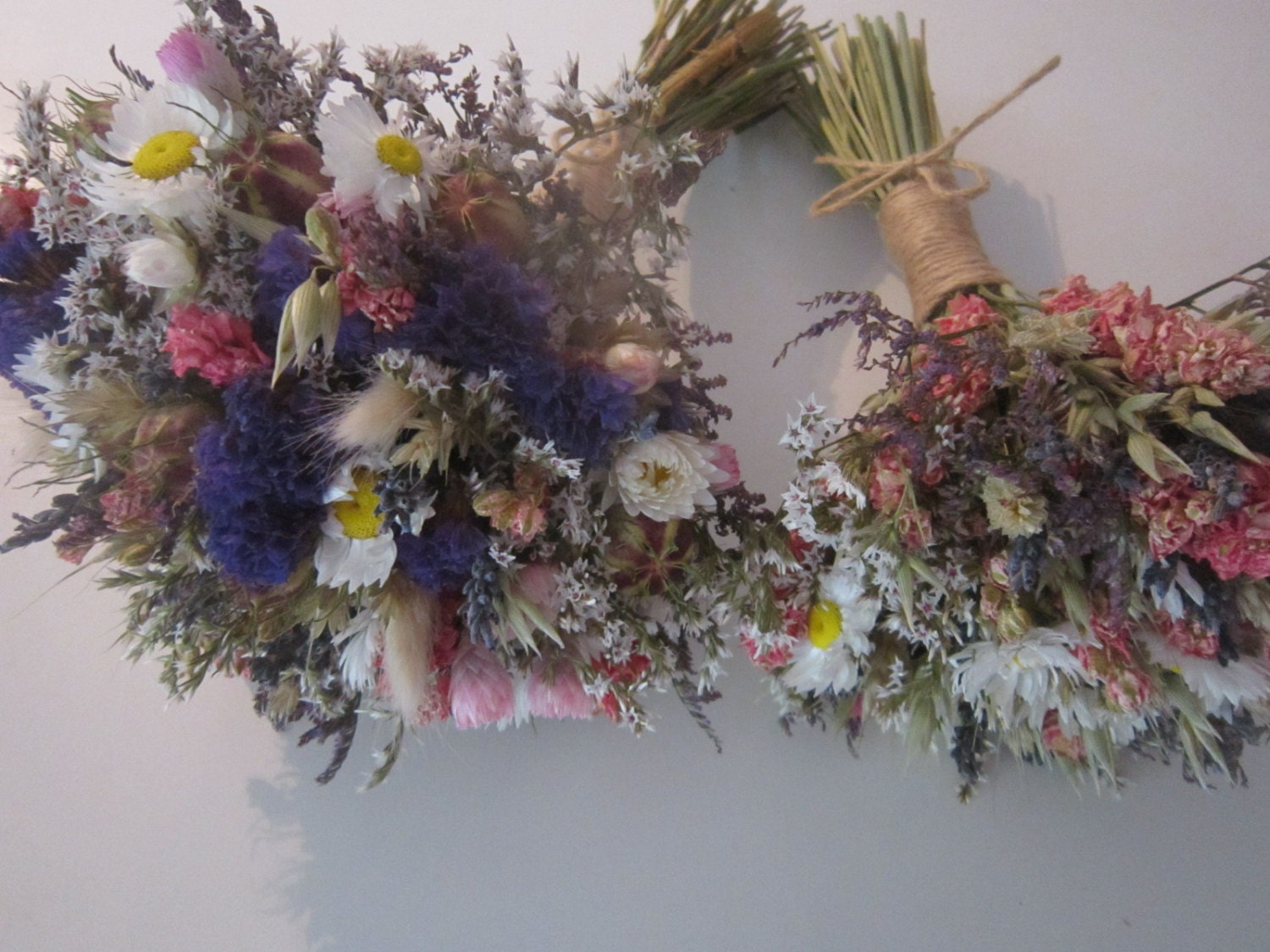deluxe summer meadow bridal bouquet dried wedding flowers