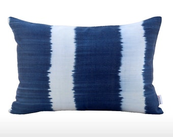 Silk Ikat Pillow: Breeze