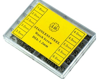 1000 PCS Stainless Steel Eyeglass and Watch Repair Screw Kit