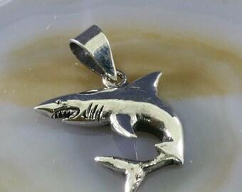Shark, pendant, 925 sterling silver