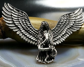 Eagle, pendant sterling silverr   ---  3554