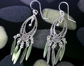 Filigran earrings 925 sterling silver  --  3519