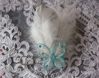 attached trolling stole Butterfly wedding
