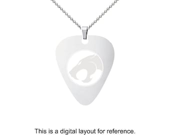 Thundercats Stainless Steel Guitar Pick Charm Necklace