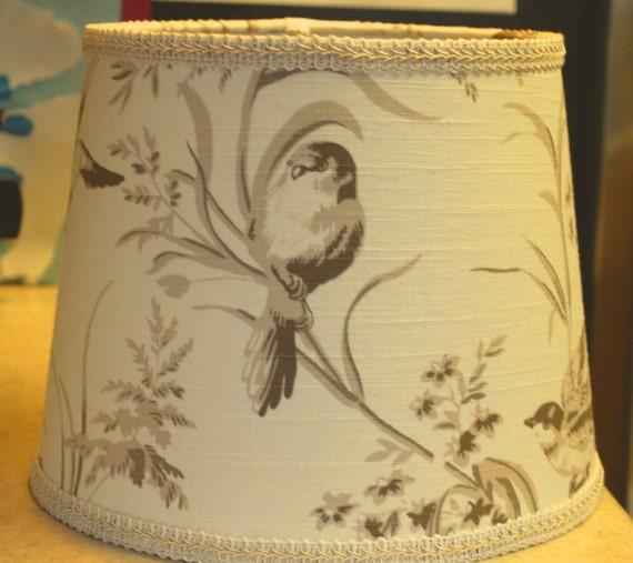 Bird Lamp Shades: Custom French Country Bird Lamp Shade LampshadeBeige Cream
