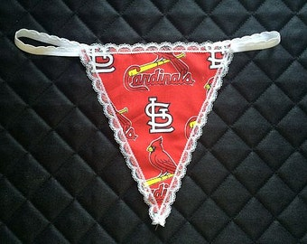 Womens ST. LOUIS CARDINALS G-String Thong Female Mlb Lingerie Baseball Underwear