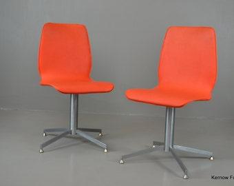 Pair Retro Howell Swivel Chairs