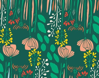 Summer Grove by Night - Leah Duncan Meadow for Art Gallery Fabrics