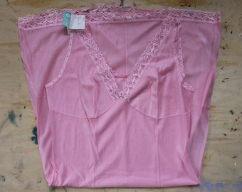 NOS Soviet Pink Negligee, Vintage Ladies Slip. New Old Stock Russian Underwear, Made in USSR, Collectible