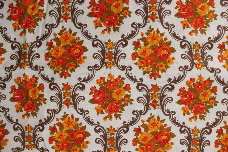 3 YARDS Soviet Vintage 70s Fabric, Vintage Linen Home