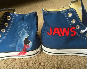 Hand painted Jaws shoes