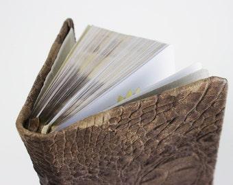 Embossed Crock 2 Tone Suede Bible - NKJV