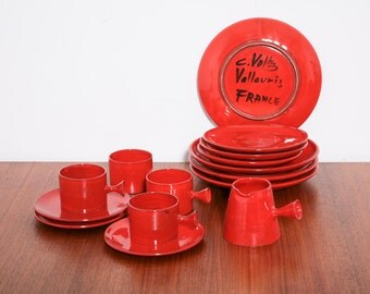 Charles Voltz assorted red Ceramics