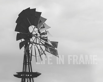 The Windmill, Black and White Photography, Western