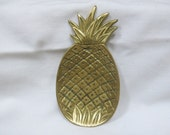 Brass Pineapple Jewelry Holder/ Hollywood Regency dish