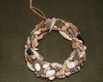 shell wreath, unique home decor