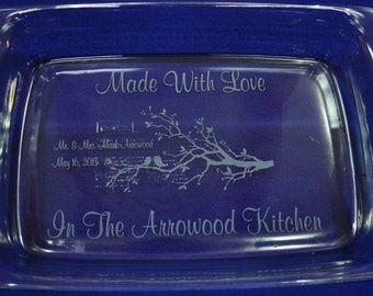 Wedding Gift ~ Bridal Shower Gift ~ Engraved Pan ~ Wedding Gift For Couple ~ Shower Gift ~ Personalized Gifts ~ Engraved Pyrex ~ Wedding ~