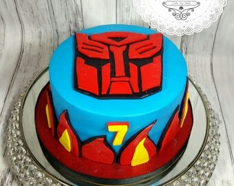 Edible Cake Decorations Transformers : edible cake topper transformer on Etsy, a global handmade ...