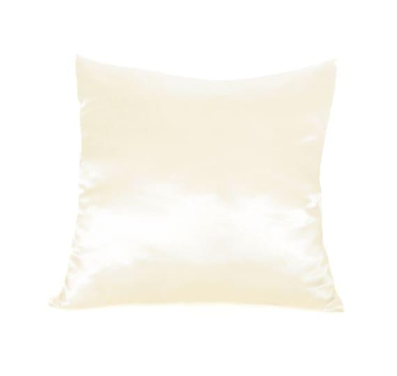 Ivory Decorative Throw Pillows : ivory pillow case Satin pillow decorative by AnnushkaHomeDecor