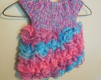 Handmade Ruffle Skirt Baby Dress