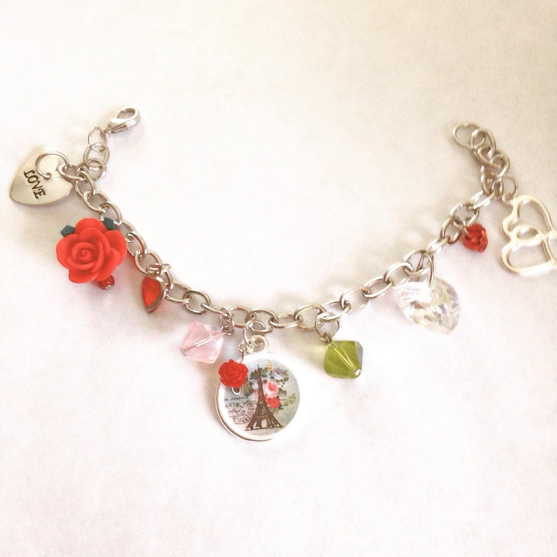 eiffel tower charm bracelet charm
