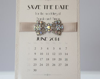 Art Deco Calendar Save The Date