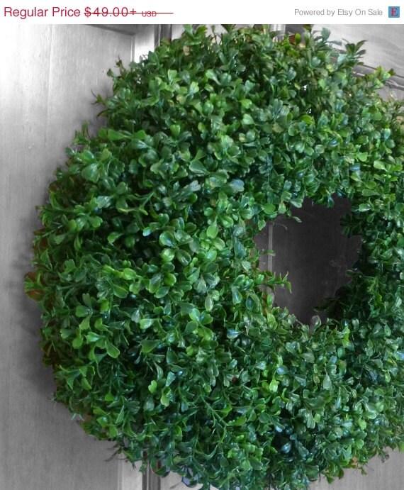 Sale boxwood wreath faux boxwood summer wreath spring wreath